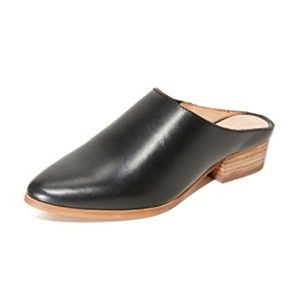 Madewell Barlow Mule Black Leather Sz 10